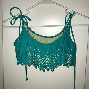 Victoria's Secret PINK Turquoise Cut Out Triangles
